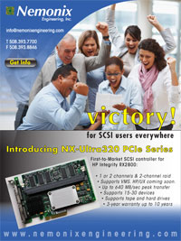 Victory for SCSI users of HP Integrity rx2800